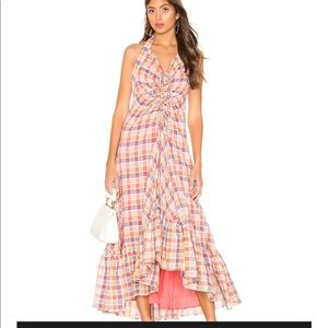 FREE PEOPLE Rainbow Dreams Ruched Maxi Dress